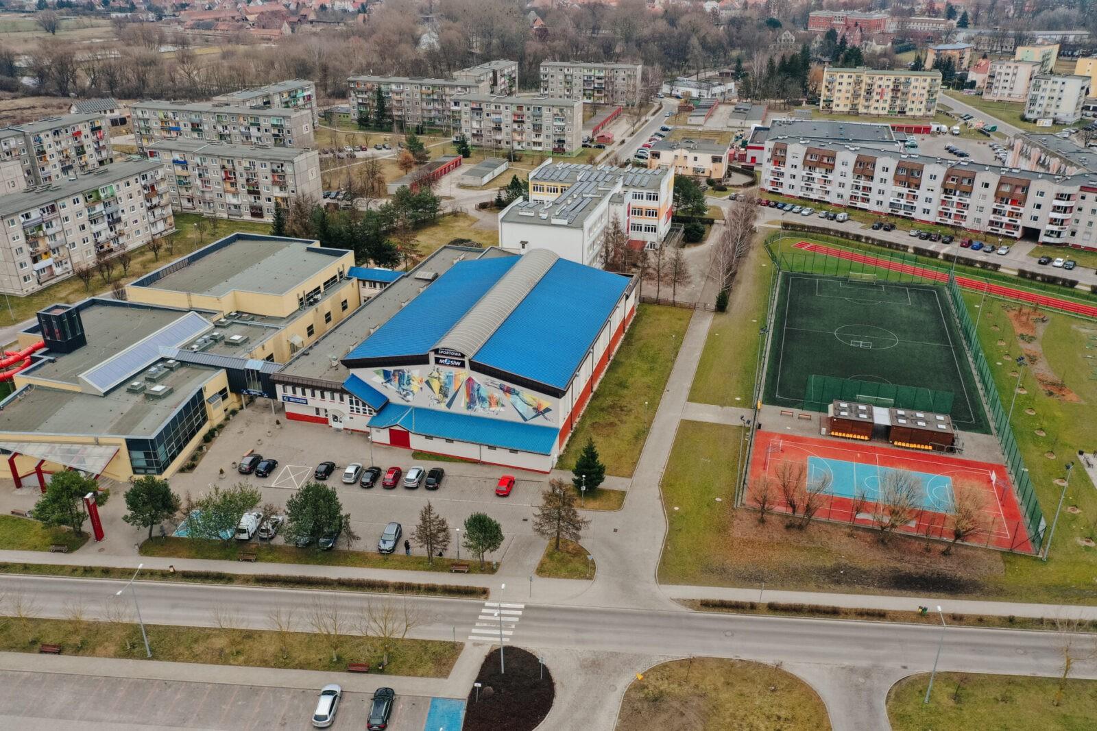 Międzyrzecki Ośrodek Sportu - Widok z lotu ptaka