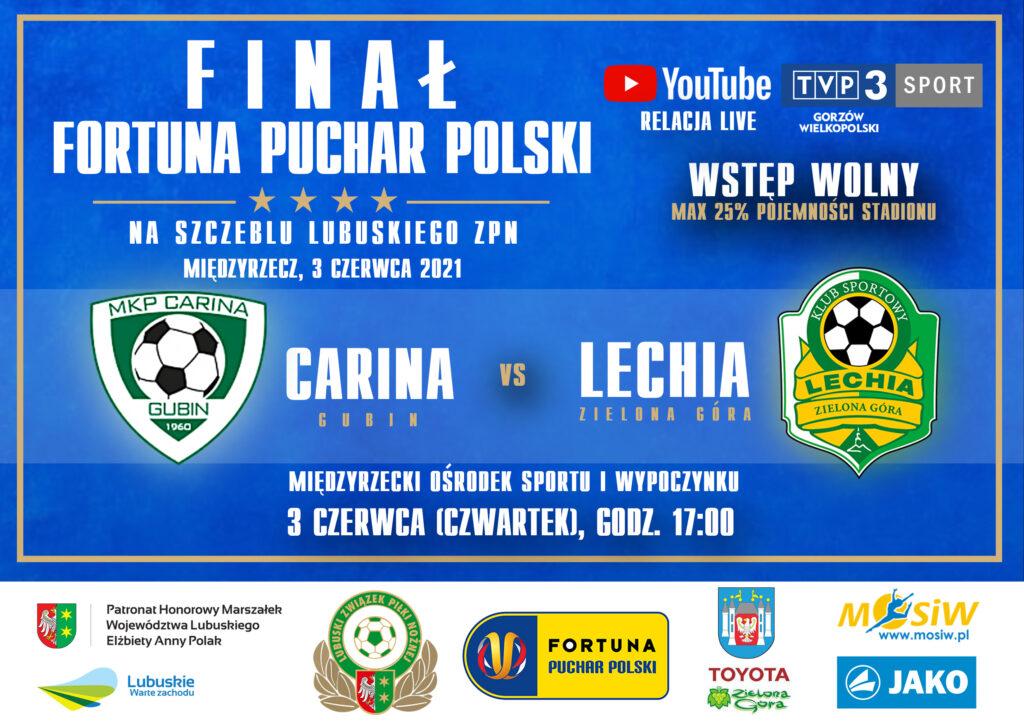 Plakat promujący imprezę sportową - Finał Pucharu Polski LZPN