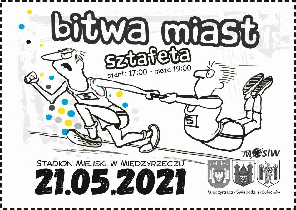 Plakat promocyjny imprezy - Bitwa Miast