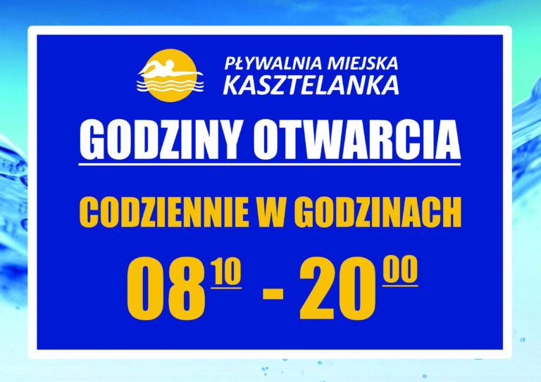 Pływalnia Kasztelanka – Nowe godziny otwarcia.